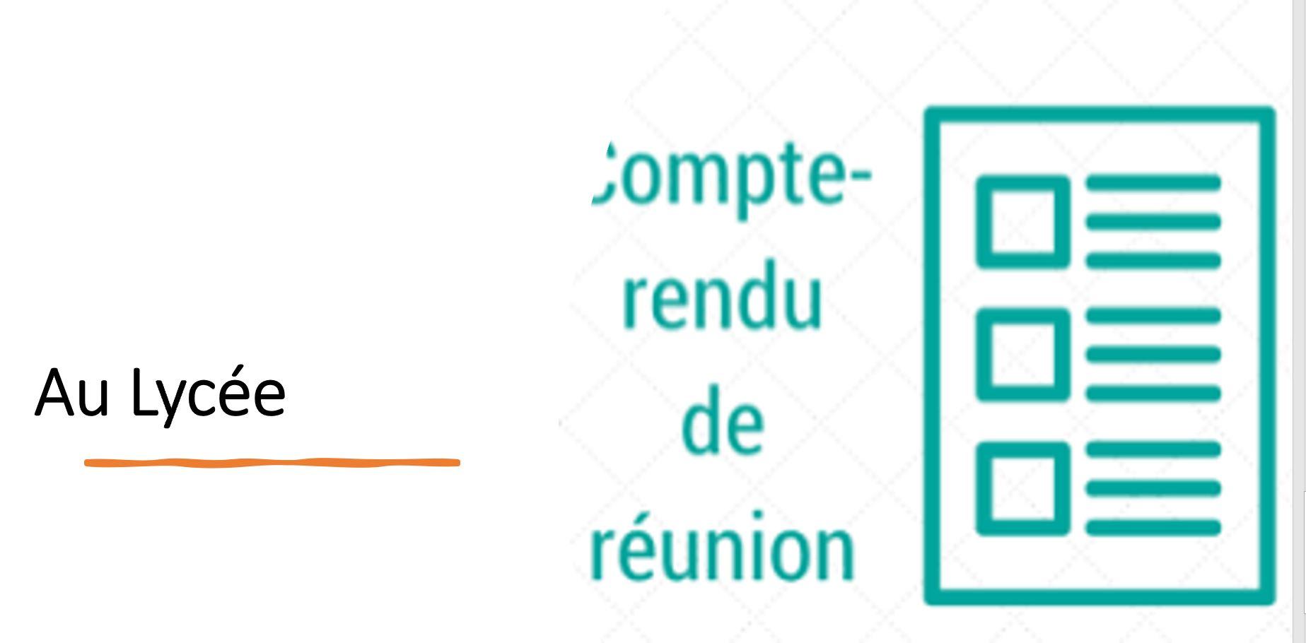 Comptes Rendus de cycle- LYCEE