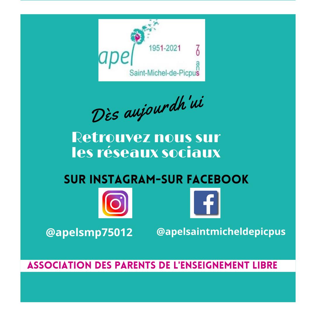 Retrouvez l'APEL sur le réseaux sociaux